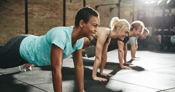 Women exercising to deal with anxiety nausea