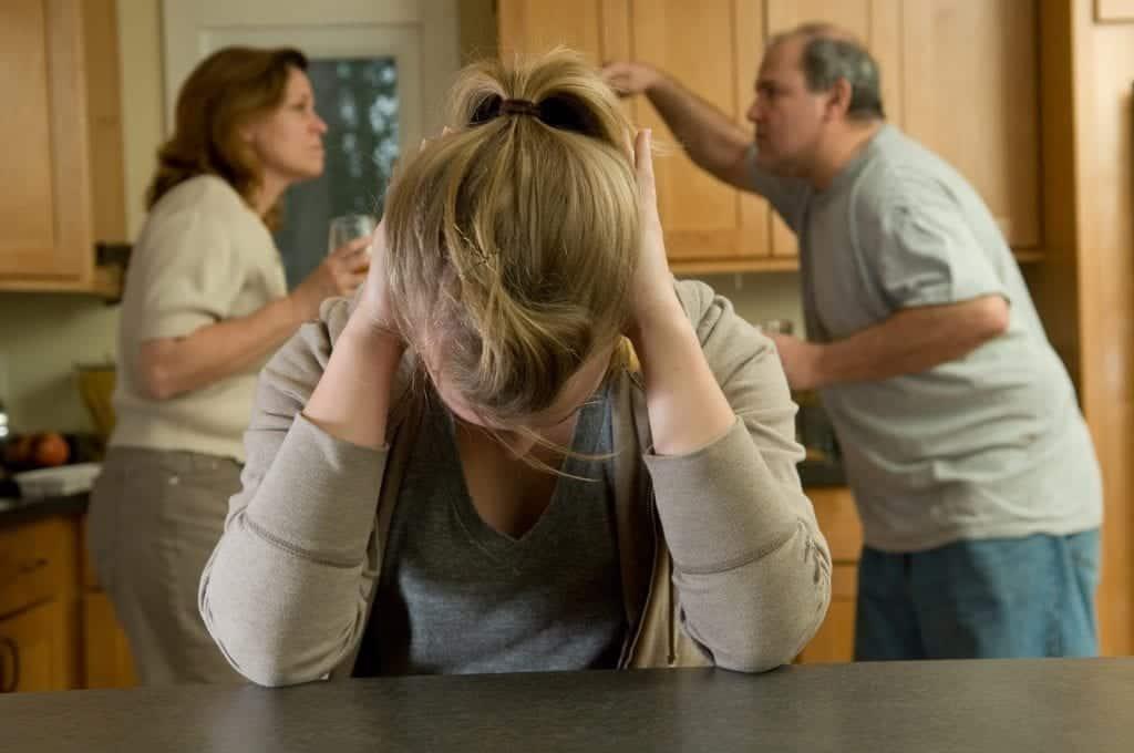 Depressed teenager in unstable home
