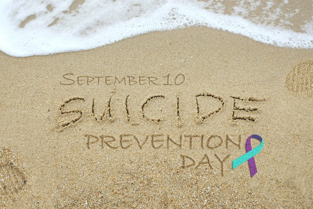 Suicide Prevention Day on beach